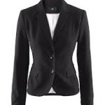 Жакет чёрного цвета: удачные и модные решения