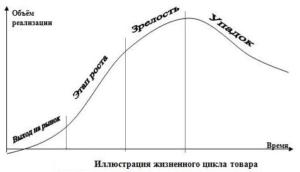 Этапы жизненного цикла товара